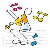 смешной играя скрипач скрипки Стоковая Фотография RF