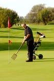смешной игрок в гольф стоковая фотография
