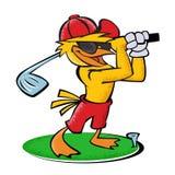 Смешной игрок в гольф птицы Стоковое Изображение