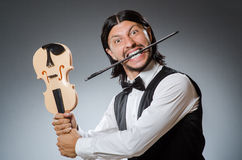Смешной игрок скрипки скрипки Стоковое Изображение RF