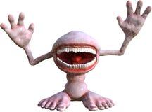 Смешной изолированный человек изверга рта иллюстрация штока