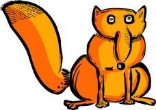 Смешной лиса нарисованная рукой Стоковое фото RF