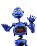 Смешной и лоснистый шарж робота иллюстрация штока