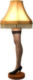 Смешной иллюстрация ноги рождества изолированная лампой бесплатная иллюстрация