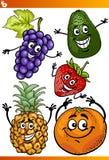 Смешной комплект иллюстрации шаржа плодоовощей бесплатная иллюстрация