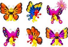 Смешной комплект шаржа бабочки бесплатная иллюстрация