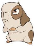 Смешной коричневый шарж морской свинки Стоковое Изображение