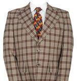 Смешной костюм и связь бизнесмена изолированные на белизне Стоковые Изображения RF