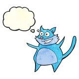 смешной кот шаржа с пузырем мысли Стоковое Изображение