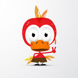 Смешной красный значок птицы иллюстрация вектора