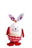 Смешной кролик пасхального яйца на белизне Стоковые Изображения