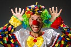 Смешной клоун в красочном стоковая фотография rf