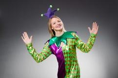 Смешной клоун в красочном стоковое фото