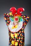 Смешной клоун с перчатками бокса Стоковое Фото