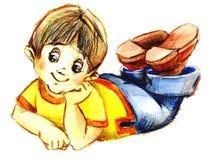 Смешной мальчик Стоковая Фотография