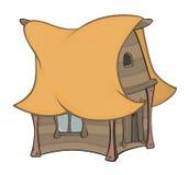 Смешной маленький шарж дома Стоковые Фотографии RF