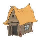 Смешной маленький шарж дома Стоковое фото RF
