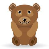 Смешной медведь на белой предпосылке Стоковые Фотографии RF
