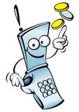 смешной мобильный телефон иллюстрация вектора