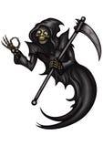 Смешной мрачный жнец с ОДОБРЕННЫМ жестом Стоковое Изображение RF