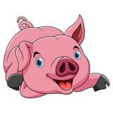 Смешной мультфильм свиньи иллюстрация вектора