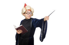 Смешной мудрый изолированный волшебник Стоковые Фотографии RF