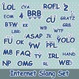 Нарисованный рукой комплект сленга интернета Стоковые Фотографии RF