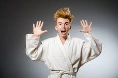 Смешной носить бойца карате Стоковое Изображение