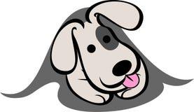 Смешной логотип собаки стоковое изображение rf