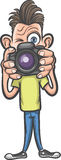 Смешной персонаж из мультфильма - фотограф делая изображения бесплатная иллюстрация