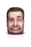 Смешной портрет шаржа Стоковые Изображения RF