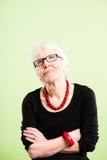 Backgroun зеленого цвета определения смешных людей портрета женщины реальных высокое Стоковое Изображение