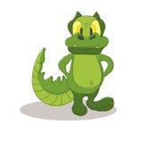 Смешной представлять шаржа крокодила Стоковые Изображения RF