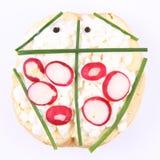 Смешной сандвич Стоковые Изображения RF