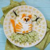Смешной сандвич сыра кота Стоковая Фотография