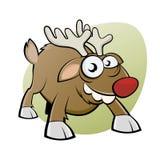 Смешной северный олень рождества Стоковые Фотографии RF