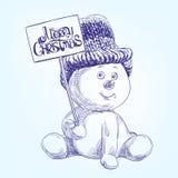 Смешной снеговик рождества Стоковое Изображение RF