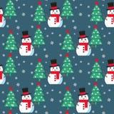 Смешной снеговик шаржа Стоковые Изображения