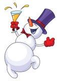 смешной снеговик иллюстрация вектора