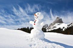 Смешной снеговик Стоковые Фото