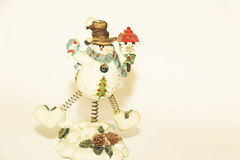 Смешной снеговик стоковое фото rf