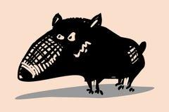 Смешной собака нарисованная рукой Стоковые Изображения RF