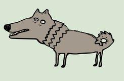 Смешной собака нарисованная рукой Стоковые Фотографии RF