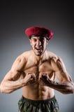 Смешной солдат в войсках Стоковое Изображение RF