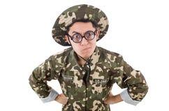 Смешной солдат Стоковые Изображения