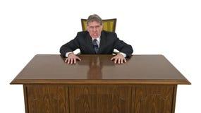 Смешной средний сердитый сумашедший изолированный бизнесмен Стоковая Фотография