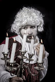 Смешной, 18 столетие, парик эры рококо джентльмена Стоковая Фотография