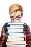 Смешной студент с сериями Стоковые Изображения RF