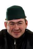 смешной счастливый портрет человека шлема стоковые фотографии rf