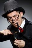 Смешной сыщик с трубой Стоковое Изображение